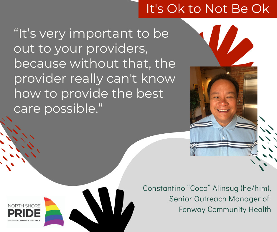 """""""It's very important to be out to your providers,"""" said Coco, with the added caveat that sometimes that isn't always safe, easy, or possible, """"because without that, the provider really can't know how to provide the best care possible."""""""